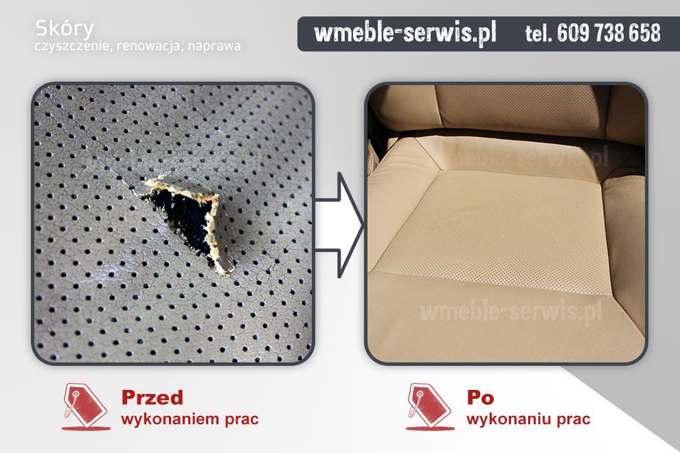 Modernistyczne Naprawa skóry w samochodzie Poznań | czyszczenie, renowacja UZ17
