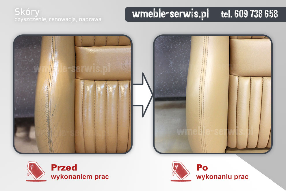 Góra Renowacja foteli samochodowych ze skóry Poznań | czyszczenie ZQ57