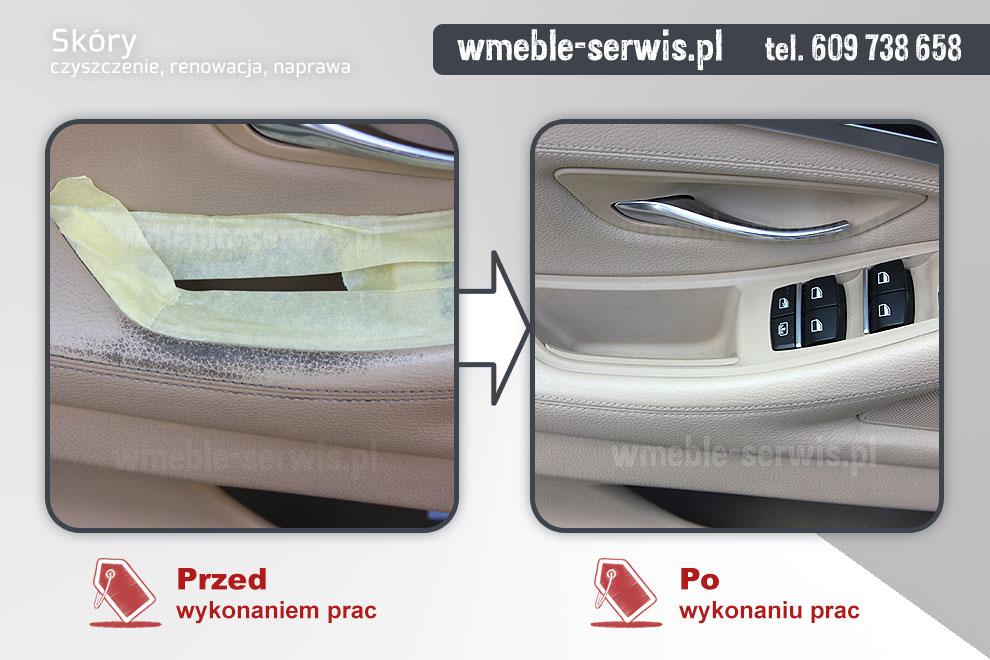 Wspaniały Uszkodzona skóra w samochodzie BMW Poznań | czyszczenie, renowacja WI43